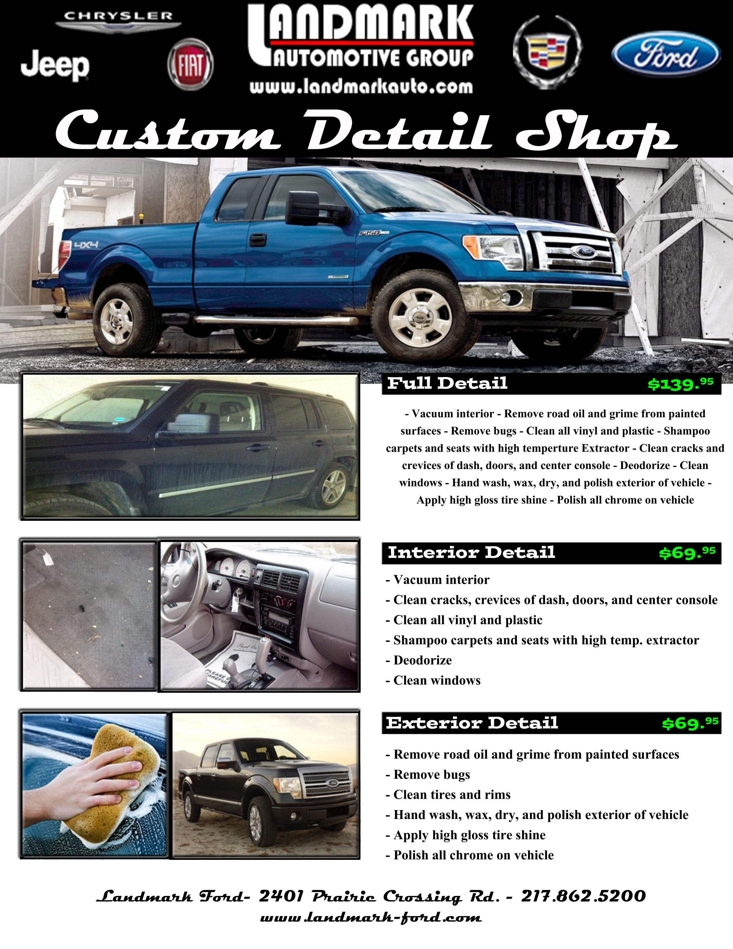 Landmark Auto Outlet Custom Detail Retail Springfield IL